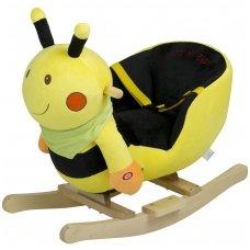 Babygo деревянная  качалка с музыкой Bee