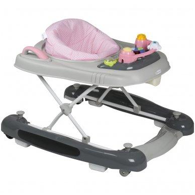 Vaikštynė BabyGo 4in1 grey Pink