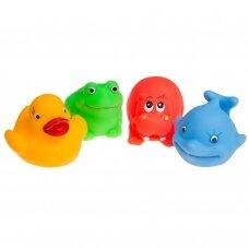 Vonios žaislai gyvūnėliai Tullo 4 vnt.
