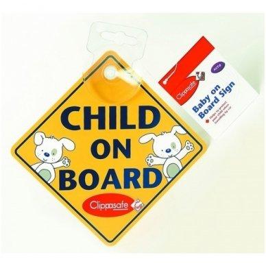 """Ženklas ant automobilio lango""""Baby on Board"""", Clippasafe 2"""